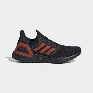 Кроссовки для бега Ultraboost 20 core black / solar red / core black EG0698