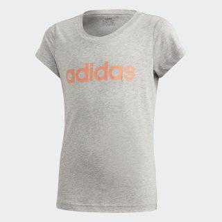 Koszulka Essentials Linear Medium Grey Heather / Signal Coral FM7019