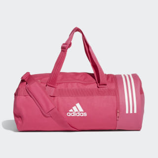 Convertible 3-Stripes Duffel Bag Medium real magenta / white / white DT8658
