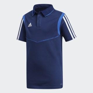 Футболка-поло Tiro 19 Cotton dark blue / bold blue DU0864
