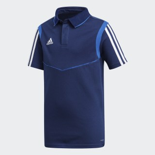 Tiro 19 Cotton Polo Shirt Dark Blue / Bold Blue DU0864