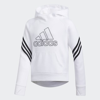 French Terry Pullover Hoodie White CM0457