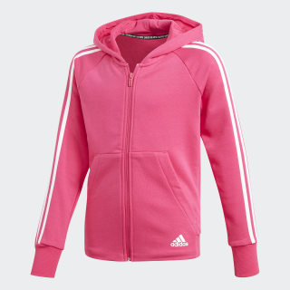 Must Haves 3-Stripes Hoodie Real Magenta / White DX2456