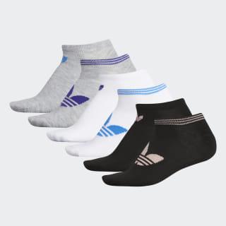 Trefoil Superlite No-Show Socks 6 Pairs Lt Vap Pink Mel CL5033