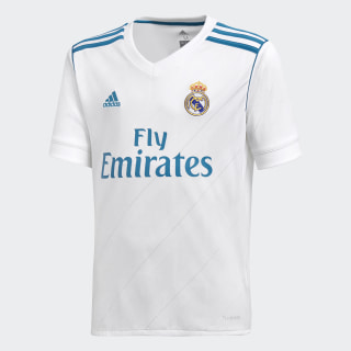 Real Madrid Home Replica Jersey White/Vivid Teal B31111