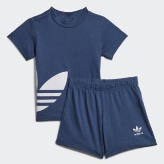 Big Trefoil Shorts und T-Shirt Set Night Marine / White FM5605