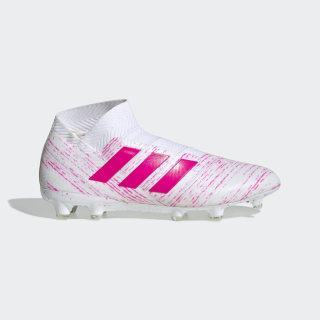 Calzado de Fútbol Nemeziz 18+ Terreno Firme Ftwr White / Shock Pink / Shock Pink BB9421
