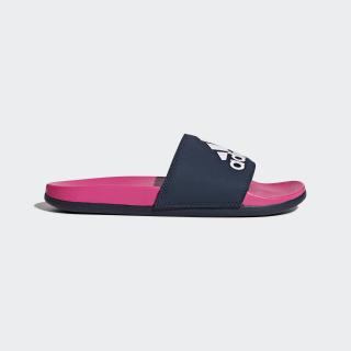 Adilette Cloudfoam Plus Logo Slides Shock Pink / Collegiate Navy / Aero Pink CG3428