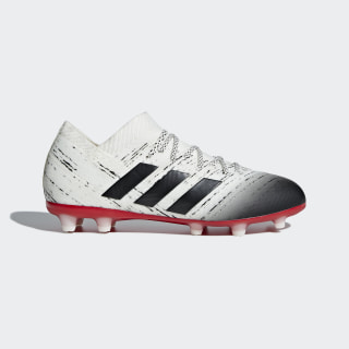 Футбольные бутсы Nemeziz 18.1 FG off white / core black / active red CM8503