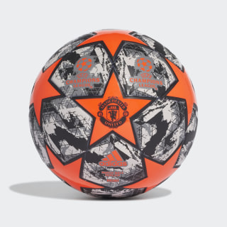 Finale 19 Manchester United Mini Ball App Solar Red / Black / Grey Three / Grey One DY2539