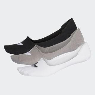 Bileksiz Çorap - 3 Çift Black / White CV5942