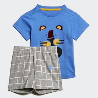 ชุดเสื้อและกางเกง Summer Real Blue ED1158