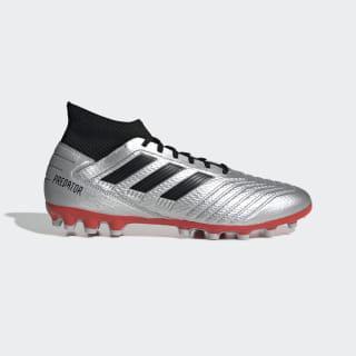 Bota de fútbol Predator 19.3 césped artificial Silver Met. / Core Black / Hi-Res Red F99989