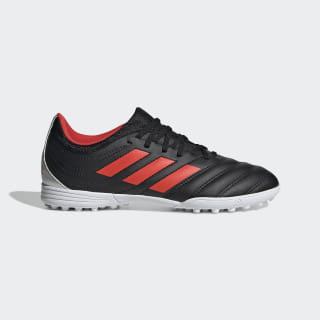 Zapatos de Fútbol Copa 19.3 Césped Artificial Core Black / Hi-Res Red / Silver Metallic F35462