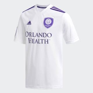 Orlando City Away Replica Jersey White / Regal Purple D98985