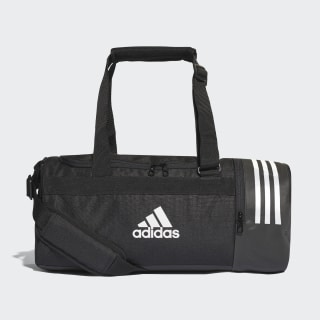 Convertible 3-Stripes Duffel Bag Small Black / White / White CG1532