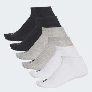 Performance Görünmez 6 Çift Çorap Black / Medium Grey Heather / White AA2310