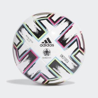 Футбольный мяч Uniforia League J350 White / Black / Signal Green / Bright Cyan FH7357
