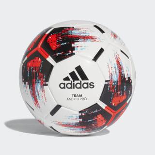 Футбольный мяч TEAM Match Ball white / black / solar red / bright cyan CZ2235