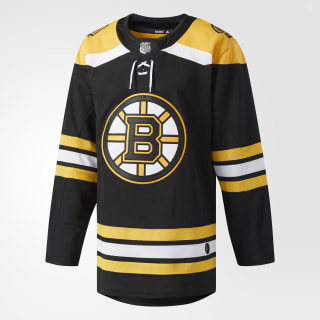 Maillot Bruins Domicile Authentique Pro Black / Yellow CA7068