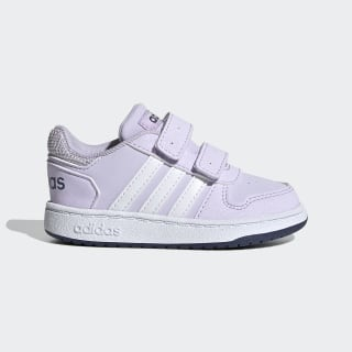 Zapatilla Hoops 2.0 Purple Tint / Cloud White / Tech Indigo EG3776