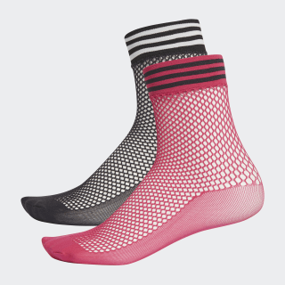 Liner Mesh Socks (2 Pairs) Black / Shock Pink DH4394