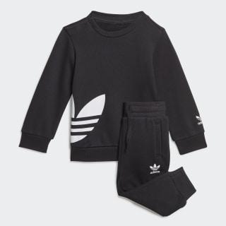 Комплект: джемпер и брюки Trefoil Black / White FM5601