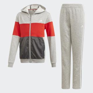 Спортивный костюм medium grey heather / active red / grey six / white DV1748