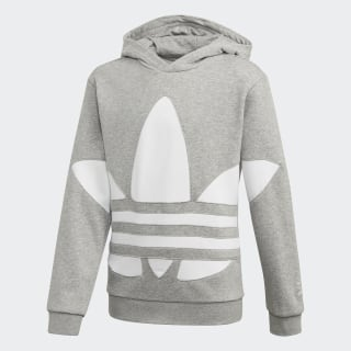 Big Trefoil Hoodie Medium Grey Heather / White FT8813