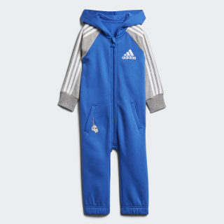 YOUTH/BABY JOGGER I ONESIE BLUE/MEDIUM GREY HEATHER/WHITE DJ1561