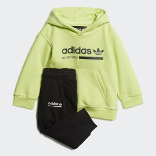 Kaval Hoodie Set Semi Frozen Yellow / Black DW9189