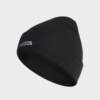 Bonnet léger côtelé With Roll Up Black / White ED0253