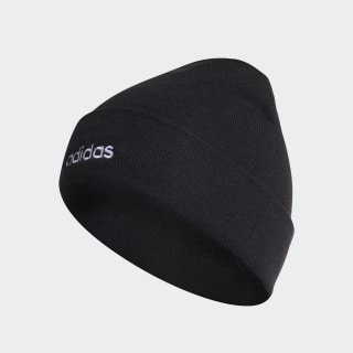 Light Beanie Rib With Roll Up Black / White ED0253