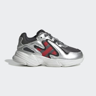 Yung-96 Chasm Shoes Grey Four / Scarlet / Silver Metallic EE9306