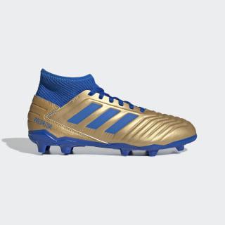 Chaussure Predator 19.3 Terrain souple Gold Metallic / Football Blue / Cloud White G25793