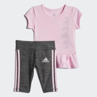 3 STRIPE CAPRI TIGHT SET True Pink CL2013