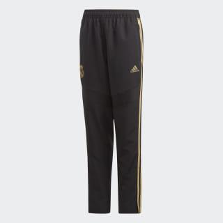Pantalon de présentation Real Madrid Black / Dark Football Gold EK0302