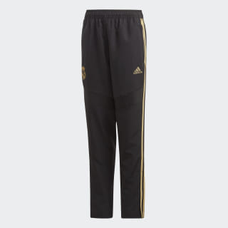 Real Madrid Presentation Tracksuit Bottoms Black / Dark Football Gold EK0302