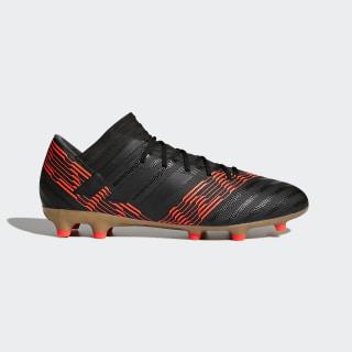 Bota de fútbol Nemeziz 17.3 césped natural seco Core Black/Core Black/Solar Red CP8985
