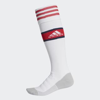 Arsenal Home Socks White / Scarlet EH5682