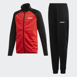 Conjunto deportivo Entry top:black/active red/white bottom:black/white DV1743