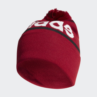 Gorro Woolie with Pompom Active Maroon / Black / White ED0241