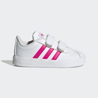 Sapatos VL Court 2.0 Cloud White / Shock Pink / Cloud White EG3890
