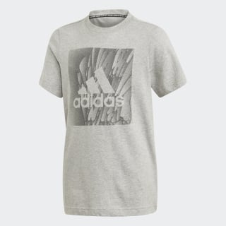 Camiseta YB MH BOX TEE Medium Grey Heather ED7249