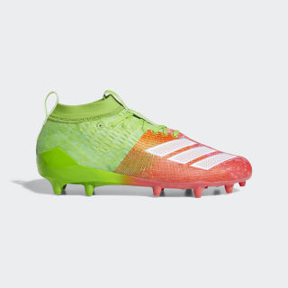 Adizero 8.0 Cleats Semi Solar Green / Cloud White / Shock Red F35081