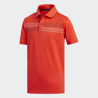 Chest Stripe Polo Shirt Hi-Res Red CE4671
