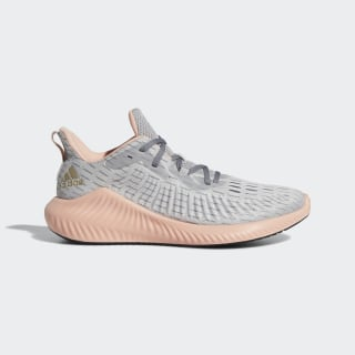 Chaussure Alphabounce+ Run Grey Two / Cyber Metallic / Glow Pink F33913