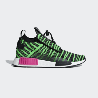 Chaussure NMD_TS1 Primeknit Core Black / Shock Lime / Grey B37628