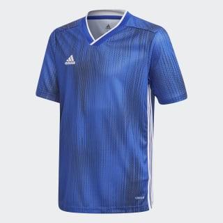 Camisa Tiro 19 Infantil bold blue / white DP3179