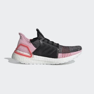 รองเท้า Ultraboost 19 Core Black / Orchid Tint / Active Red G26129